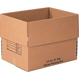 24(L) x 18(W) x 18(H) Deluxe Moving Boxes, 32 ECT, Brown, 10/Bundle (241818DPB)