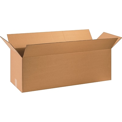 36(L) x 12(W) x 12(H) Shipping Boxes, 32 ECT, Brown, 15/Bundle (361212)