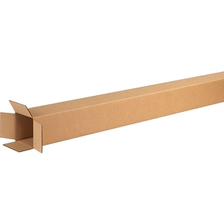 4 x 4 x 60 Shipping Boxes, 32 ECT, Brown, 25/Bundle (4460)