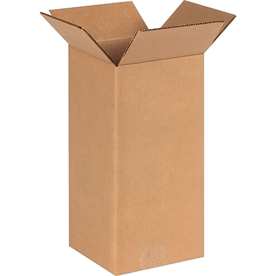6 x 6 x 12 Shipping Boxes, 32 ECT, Brown, 25/Bundle (6612)