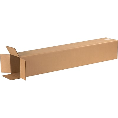6(L) x 6(W) x 40(H) Shipping Boxes, 32 ECT, Brown, 25/Bundle (6640)