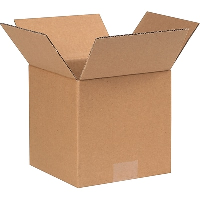 7 x 7 x 4 Shipping Boxes, 32 ECT, Brown, 25/Bundle (774)
