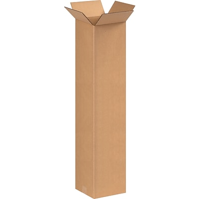 8(L) x 8(W) x 36(H) Shipping Boxes, 32 ECT, Brown, 25/Bundle (8836)