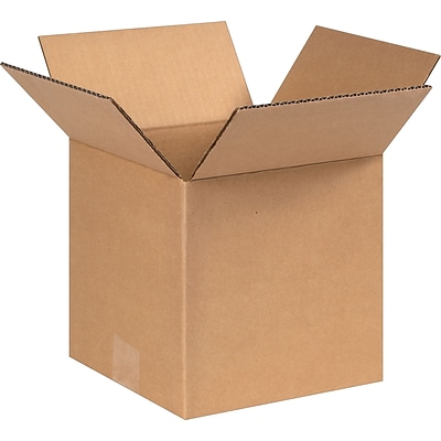 8(L) x 8(W) x 8(H) Shipping Boxes, 32 ECT, Brown, 25/Bundle (888)