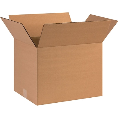 16(L) x 12(W) x 12(H) Shipping Boxes, 44 ECT, Brown, 15/Bundle (HD161212)