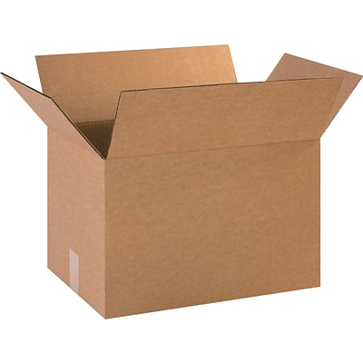 18(L) x 12(W) x 12(H) Shipping Boxes, 44 ECT, Brown, 25/Bundle (HD1812)