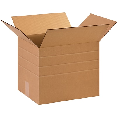 10(L) x 10(W) x 12(H) Multi-Depth Shipping Boxes, 32 ECT, Brown, 25/Bundle (MD101012)