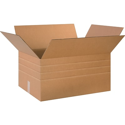 26(L) x 18(W) x 16(H) Multi-Depth Shipping Boxes, 32 ECT, Brown, 10/Bundle (MD261816)