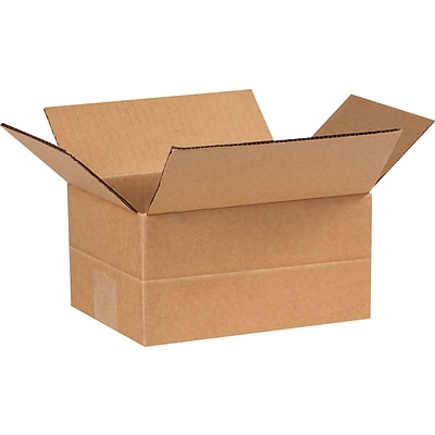 8 x 6 x 4 Multi-Depth Shipping Boxes, Brown, 25/Bundle (MD864)