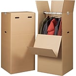 20(L) x 20(W) x 44(H) Wardrobe Boxes, 32 ECT, Brown, 3 /Bundle(70005)