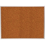 Best-Rite Red Splash Cork Bulletin Board, Aluminum Trim Frame, 12 x 4