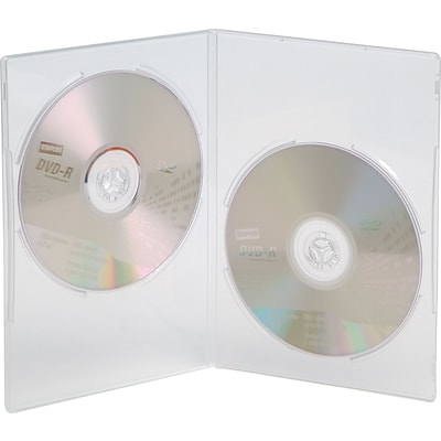 Double Slim DVD Case, Translucent, 20/Pack