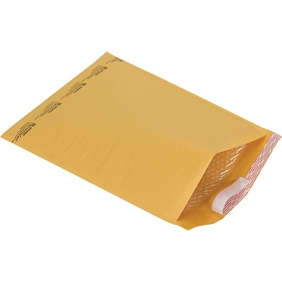 Self-Seal #6 Bubble Mailers, Kraft, 12-3/8 x 17-3/4 , 50/Case