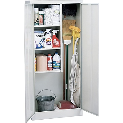 Sandusky Janitorial Supply Storage Cabinets, Silver