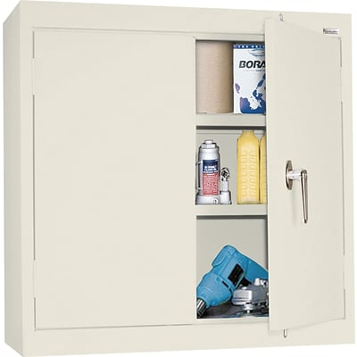 Sandusky Solid Door Wall Cabinets, Putty, 30Hx30Wx12D
