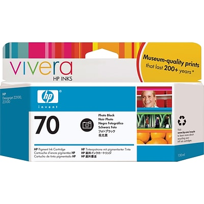 HP 70 130ml Photo Black Ink Cartridge (C9449A), High Yield