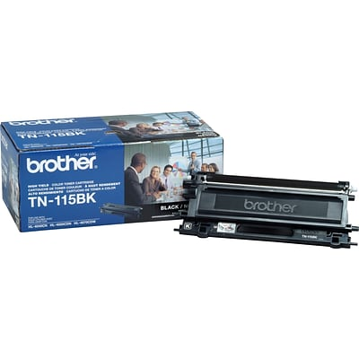 Brother Genuine TN115BK Black High Yield Original Laser Toner Cartridge