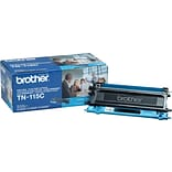 Brother TN-115C Cyan Toner Cartridge; High Yield