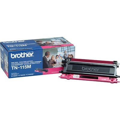Brother Genuine TN115M Magenta High Yield Original Laser Toner Cartridge