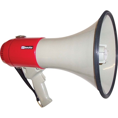 AmpliVox® 25 Watt Piezo Dynamic Megaphone, with Pistol Grip