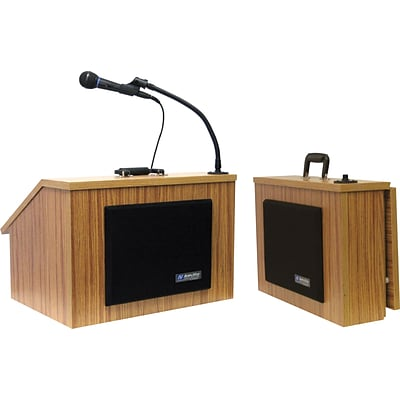 AmpliVox® S272-MO Table Top Lectern; Medium Oak