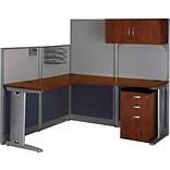 Office-in-an-Hour 65W x 65D L-Workstation w/ Kit