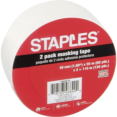 Staples® Masking Tape, 2 x 60 Yards