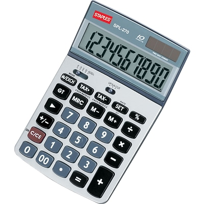 SPL-270 10-Digit Display Calculator with Tax Functions