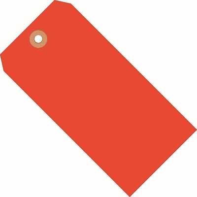 Fluorescent Red Shipping Tags, #5, 4-3/4 x 2-3/8, 1000/Case