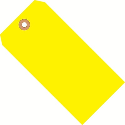 Fluorescent Yellow Shipping Tags, #8, 6-1/4 x 3-1/8, 1000/Case