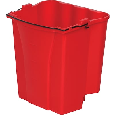 Rubbermaid® FG9C7400 Commercial Red Dirty Water Bucket, Red