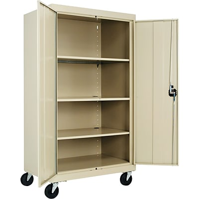 Alera® Mobile Storage Cabinet Putty 3-Shelf 66H x 36w x  sc 1 st  Quill.com & Alera® Mobile Storage Cabinet Putty 3-Shelf 66