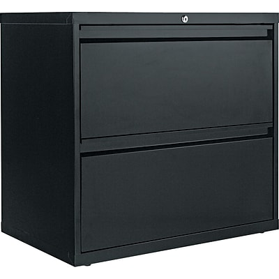 Alera® 2-Drawer Lateral File Cabinet, Black, Letter and Legal (ALELA523029BL)