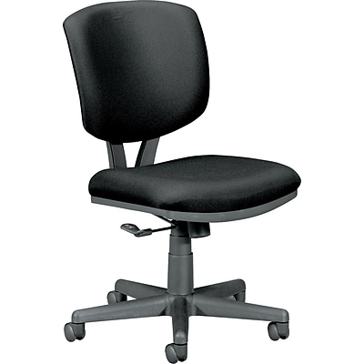 HON® Volt® Task Chair, Fabric, Black, Seat: 18 1/2W x 19D, Back: 17 1/2W x 19H