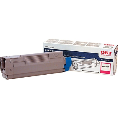 OKI 43324418 Magenta Toner Cartridge, Standard Yield