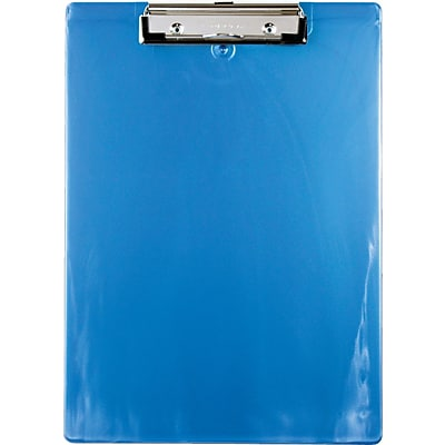 Saunders Recycled Plastic Clipboard, Letter, Ice Blue, 8 1/2 x 12
