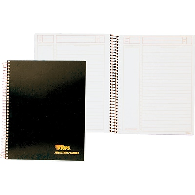 TOPS® JEN Action Planner, White, Special Ruled, 8 1/2 x 6 3/4, 84 Sheets