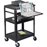 Balt® Adjustable Height Utility Cart with Laptop Shelf