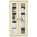 Sandusky Stationary 72H Metal Front Cabinet with 5 Shelves, Putty (EA4M462472-07)