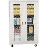 Sandusky 78H Mobile Metal Front Cabinet with 5 Shelves, Dove Gray (TA4M462472-05)