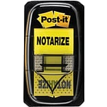 Post-it® Notarize Message Flags, 1 Wide, Yellow, 100 Flags/Pack (680-NZ2)