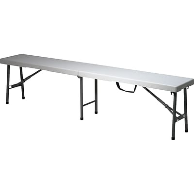 Office Star™, Grey/Black Resin Folding Bench