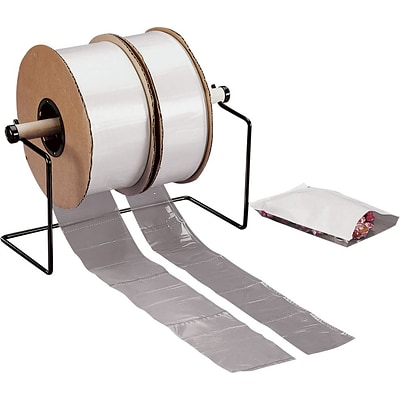 4 x 4 Layflat Poly Bags on a Roll, 1.5 mil, Clear, 4000/Roll, (2633)
