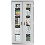 Sandusky Stationary Metal Front Cabinet, Dove Gray, 72H x 46W x 24D