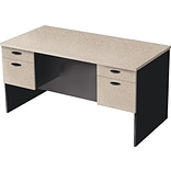 Bestar Hampton™ Executive Desk, Sand Granite & Charcoal