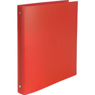 Simply Poly 1-Inch Round-Ring Non-View Binder; Red (15149-CC)