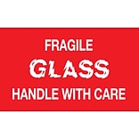 Fragile Glass Handle with Care Label, 05H x 03W 500/Roll