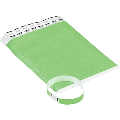 Crowd Management Wristbands, Sequentially Numbered, Green, 500 Per Pack (AVT75511)