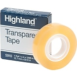 3M Highland Transparent Tape; 1/2x1296