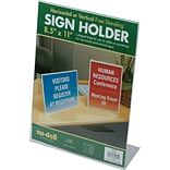 Nu-Dell Acrylic Sign/Photo/Certificate Holder, L-Frame, 11H x 8 1/2W, 36/Ct
